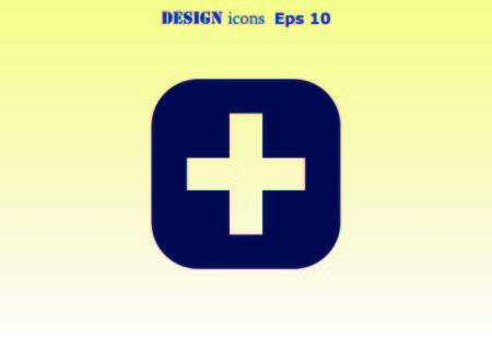 plus icon: Plus icon Stock Photo