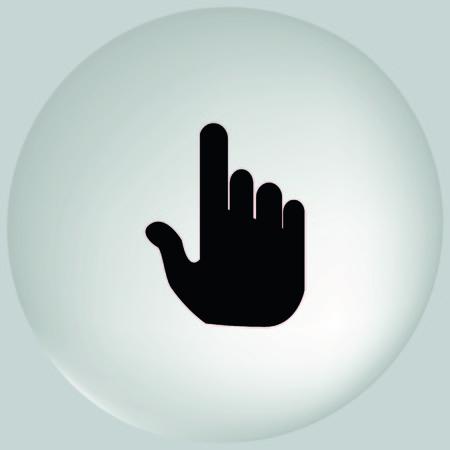 frontal: Hand cursor Stock Photo