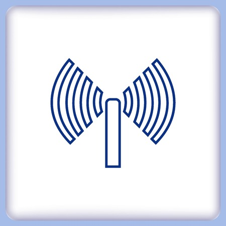 antenna: antenna icon Illustration