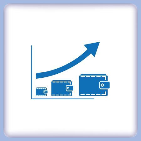 visualize: Diagram icon. Illustration