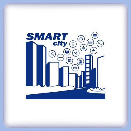 sity: Smart sity icon. Collection modern trend concept.  vector illustration symbol Illustration