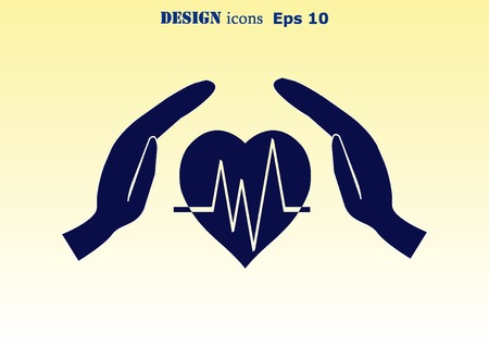 cardiology: Human heart,  Cardiology resuscitation  icon