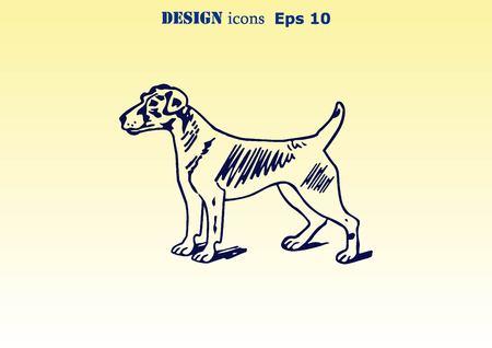 canine: Vector illustration of a dog. Aggressive purebred dog. Illustration