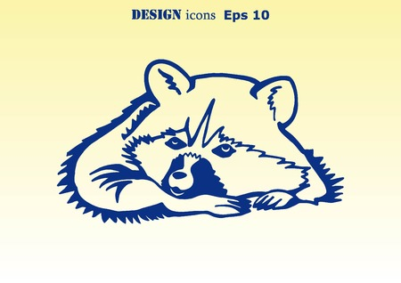 amusing: Vector illustration of a raccoon.