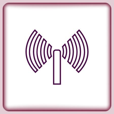 space television: antenna icon Illustration