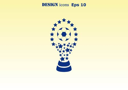 awarded: Soccer Cup, awarded the best team in football. Illustration