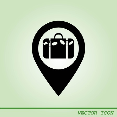 itinerary: Navigator Guide itinerary icon Illustration