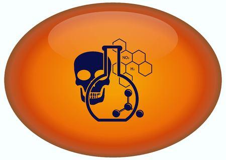 Laboratory equipment, chemistry, science icon Stock Photo