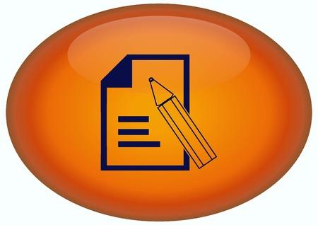 Document determining identity icon. Stock Photo