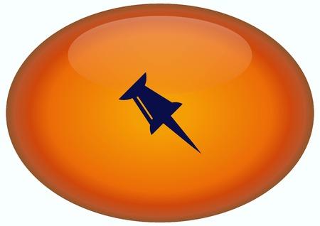 push pin icon: push pin icon, vector illustration. Stock Photo