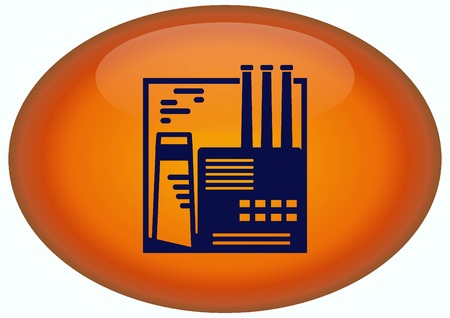heavy industry: Factory silhouette icon. Vector Illustration. Industrial landscape. Heavy industry. Stock Photo