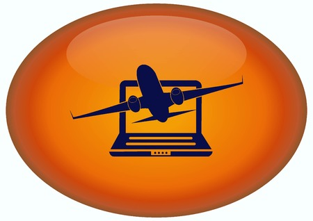 aero: Aircraft icon Stock Photo
