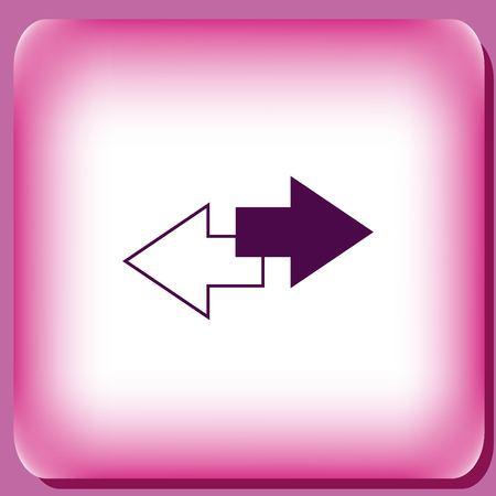 La flèche indique l'icône de direction