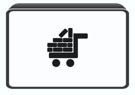 plasterer: Bricks (brickwork, masonry), icon Illustration