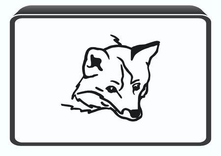 dog bite: Fox icon, vector illustration.