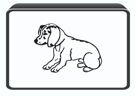lapdog: Vector illustration of a puppy. A small dog.