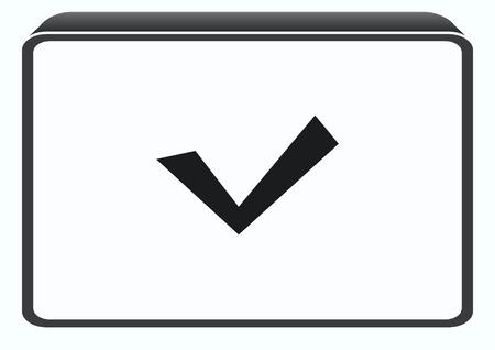 algebra calculator: Check mark symbol,vector icon Illustration