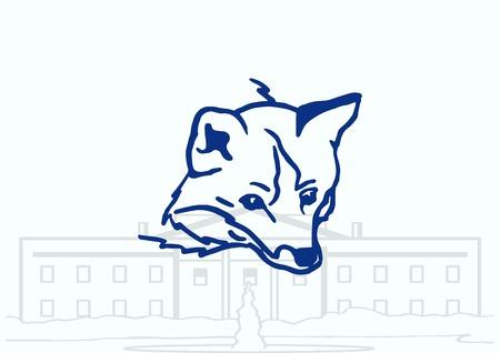 patrol: Fox icon, vector illustration.