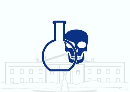 laboratory equipment: Laboratory equipment, chemistry, science icon Illustration