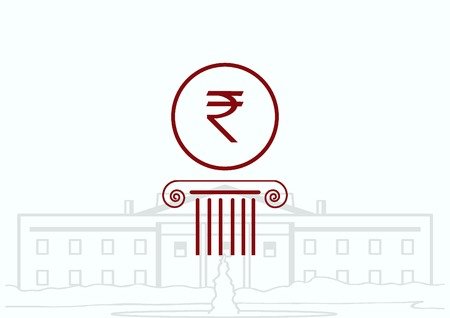 rupee: Indian Rupee banking icon