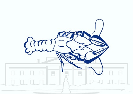 crustacea: Lobster, cancer icon. Vector illustration. graphics, seafood. Marine reptile.
