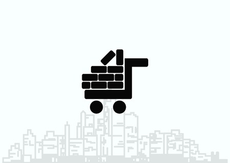 brickwork: Bricks (brickwork, masonry), icon Illustration