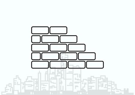 paredes de ladrillos: Ladrillos (alba�iler�a, mamposter�a), icono Vectores