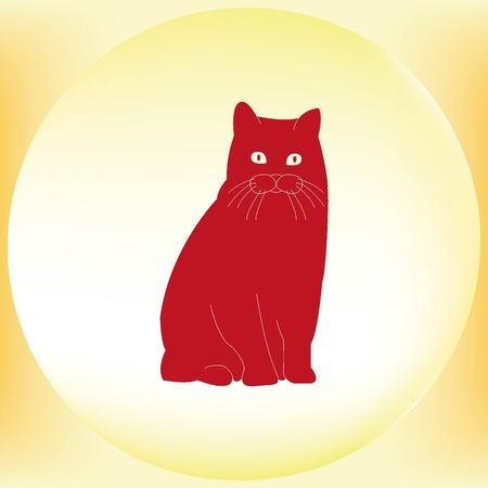 licking: Cat icon Illustration