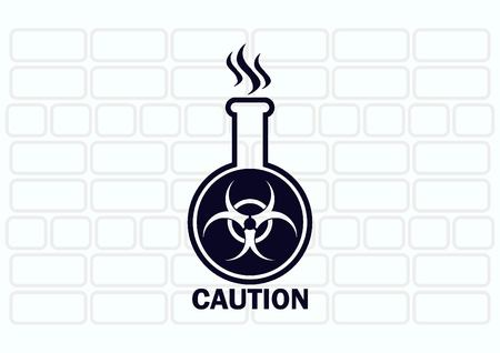 poison sign: Laboratory equipment, chemistry, science icon Illustration
