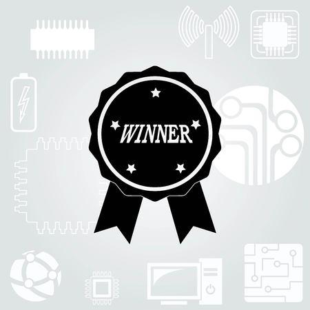 honor: Medal, reward, honor  icon Illustration