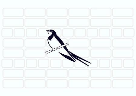 Bird icon. swallow swift vector illustration.