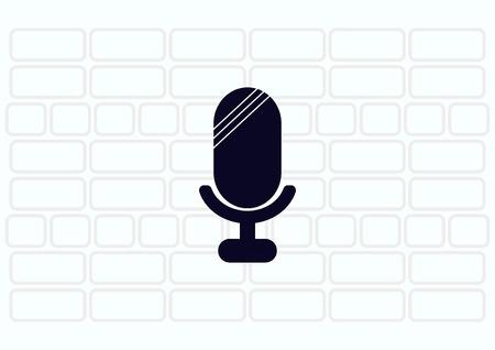 microfono antiguo: viejo icono de micrófono