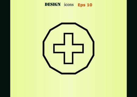 plus icon: Plus icon Illustration