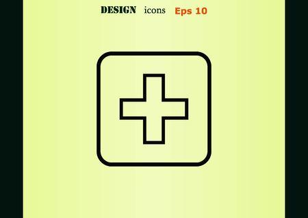 plus: Plus icon Illustration