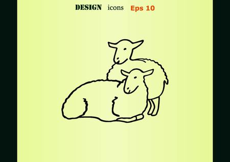 flock of sheep: Vector illustration of a sheep. Flock of sheep. Illustration