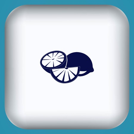 Lemon icon. Fruit icon.