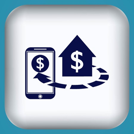 Internet banking icon. Illustration