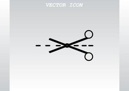 hairstyling: Scissors, cut icon Illustration