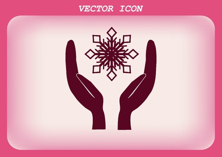climate: snowflake icon,  repair of air conditioning climate control icon.