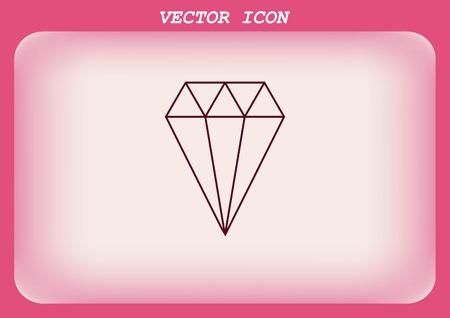 bijou: diamond icon, vector illustration