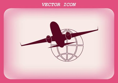 aero: Aircraft icon Illustration