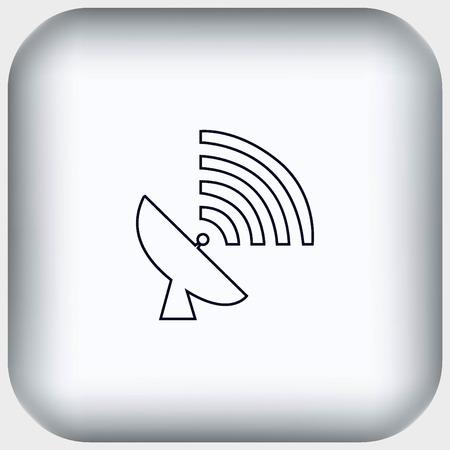 receiver: antenna icon Illustration