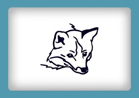 ear protection: Fox icon, vector illustration.