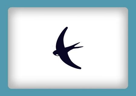 barn swallow: Bird icon. swallow swift vector illustration.