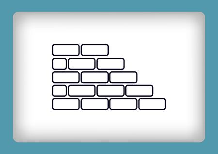 brickwork: Bricks (brickwork, masonry), icon Vectores