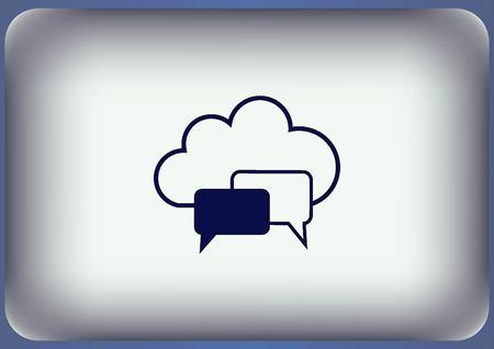 dialog balloon: Speech bubbles icon vector icon