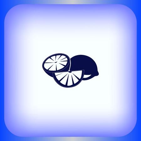 icon: Lemon icon. Fruit icon.