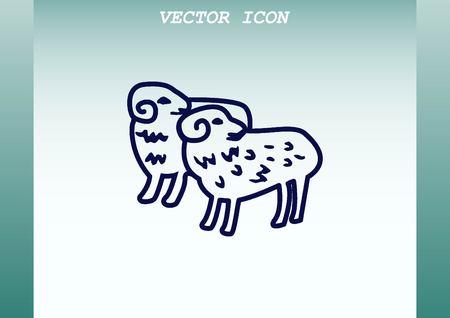 flock: Vector illustration of a sheep. Flock of sheep. sheep .