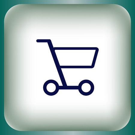 Shopping trolley, cart icon