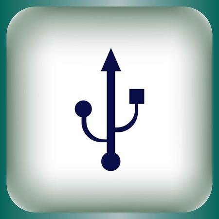 usb memory: USB icon